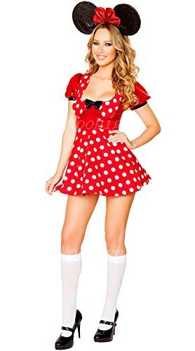 GGTBOUTIQUE Top Totty Déguisement Minnie Mouse à pois - Multicolore - Medium