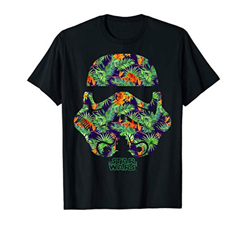 Star Wars Tropical Stormtrooper Helmet Graphic T-Shirt