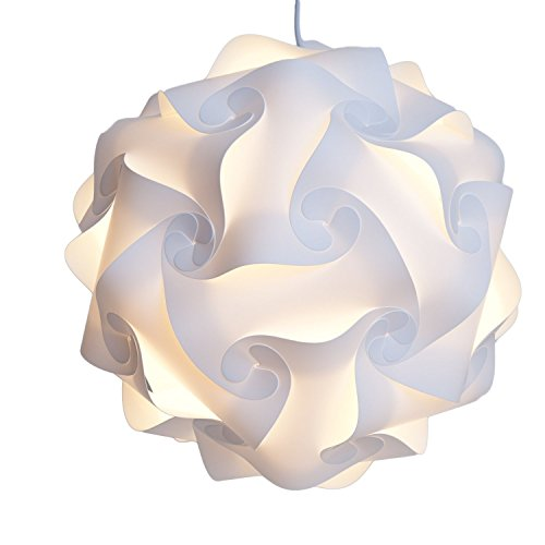 INFINITY LIGHTS Puzzle Light: White Modern Lamp Shade, X-Large