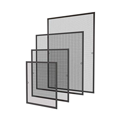 120 x 140 cm Fliegengitter Fenster Insektenschutz Fliegenschutzgitter mückengitter gitter moskitonetz Spannrahmen für Fenster mit Aluminium Rahmen ohne Bohren und Schrauben, Braun
