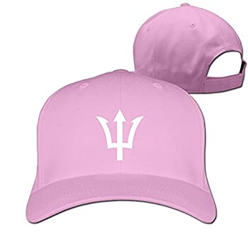 Style Poseidon Greek God Trident Symbol Logo Baseball Cap Snapbacks Hat Pink