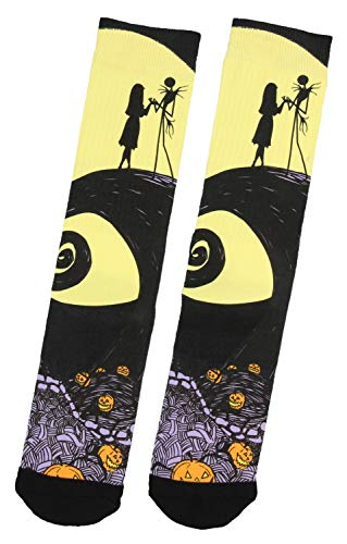 Bioworld Merchandising / Independent Sales Nightmare Before Christmas Hill Scene Sublimated Socks Standard