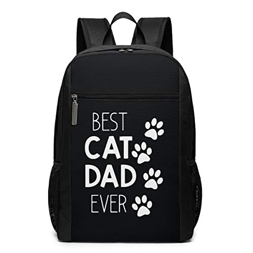 Best Cat Dad Ever College Daypacks Lightweight Travel Wide Open Back to School Backpack for Women&Men