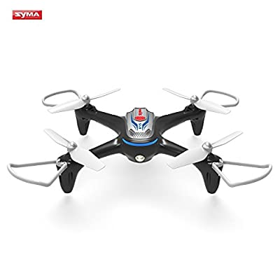 Syma X15 RC Drone 2.4GHz 4CH 6-Axis Gyro Quadcopter with Altitude Hold, 3D Flips, Headless Mode, One Key to Return and LED Lights Perfect for Beginners Kids Adults (Black)