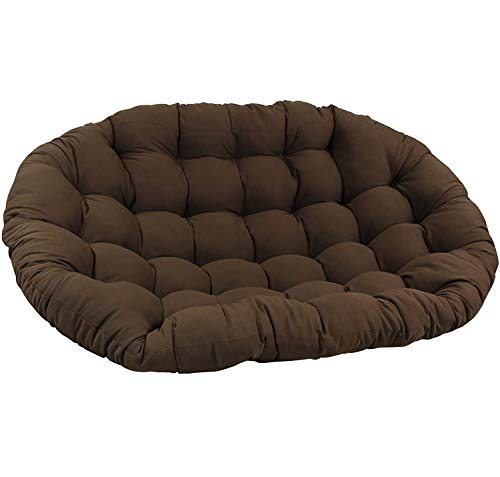 DULPLAY Double Needles Solid Outdoor Papasan Cushion,Spun Polyester 67'X 47',Thicken Patio Swing Chair Cushion Brown 172x120x15cm(68x47x6inch)