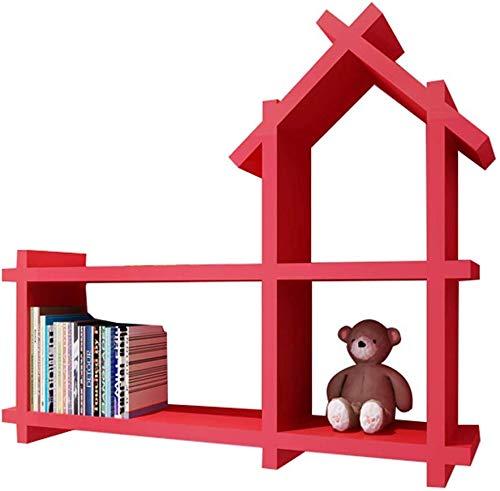 Decoratieve staander voor huis/schilderij kinderkamer closion hanghouders creatief klein huis planken wandplank van hekwerk (kleur: rood) Rood