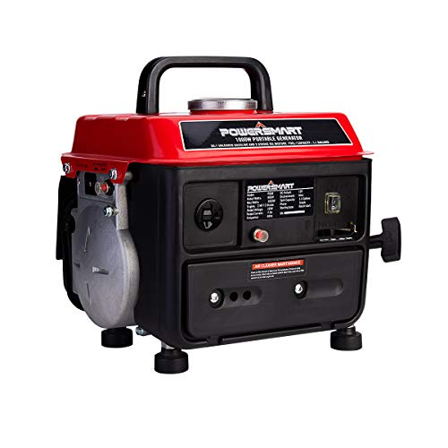 PowerSmart Generator, 1000 Watts Portable Generator, Outdoor generator Low Noise, Gas Powered Portable Generator, Inverter Generators for Home-use, PS50A