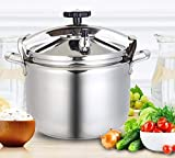 YSHGHAJ 15L-50L 304 Stainless Steel Pressure Cooker, Domestic Gas Indution Cooker Universal Explosion-Proof Pressure Cooker, Pressure Cooker for Commercial Kitchen Equipment Non-Stick Cookware