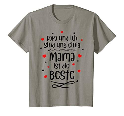 Kinder Papa und ich sind uns einig - Mama ist die beste T-Shirt
