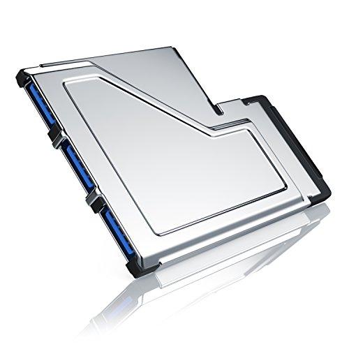CSL - USB 3.0 3 Port ExpressCard 54mm - PCMCIA Schnittstellenkarte Adapter Konverter - 3X USB Ports Typ A - Super Speed bis zu 5 GBit s - 54mm Einbaubreite