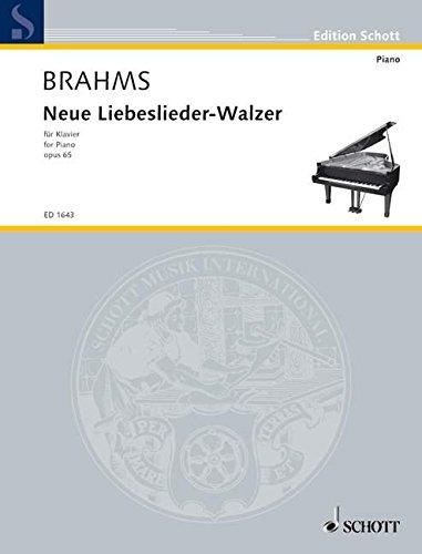 Neue Liebeslieder-Walzer: op. 65. Klavier. (Edition Schott)