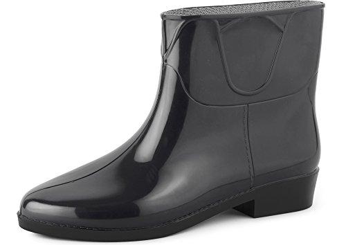 Ladeheid Botines Botas de Agua Zapatos Mujer LAZT201801 (Negro/Negro, 38 EU)
