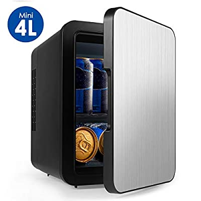 Efast Mini Fridge with Cooler and Warmer, Small 4 Liter Large Capacity Portable Compact Fridge, Super Quiet in-Vehicle Freezer for Cars, Homes, Offices