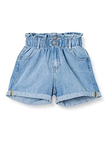 Teddy Smith S- Suzie JR Used Bermuda Shorts, Fripp Indigo Clair, 16 Ans Girls