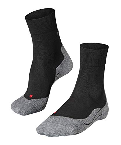 FALKE Herren, Laufsocken RU4 Wool Merinowollmischung, 1 er Pack, Schwarz (Black-Mix 3010), Größe: 42-43