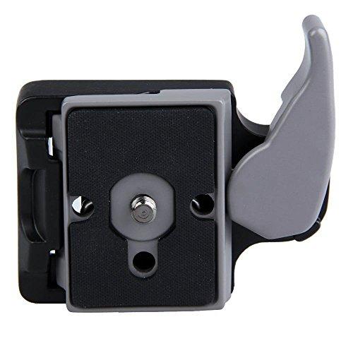 Andoer® Kamera 323 Schnellspanner Adapter + Schnellwechselplatte Kompatibel für Manfrotto 200PL-14 Compat Platte