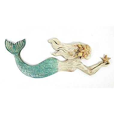 Swimming Mermaid Resin Wall Decor