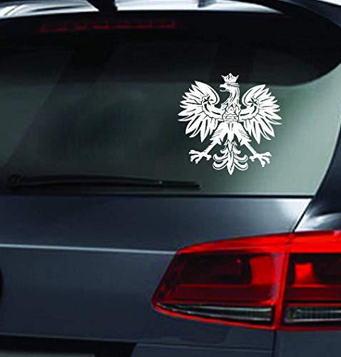 Aufkleber Sticker Auto 15,2x15,1 cm polnischen Adler Polen Symbol Mode Auto Aufkleber Tiermuster Auto Styling Aufkleber für Auto Laptop Fenster Aufkleber
