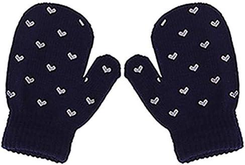 Soft Knitting Warm Wrist Gloves Mittens Kids Dot Star Heart Pattern Children Fashion Lovely Hot Gloves 2017 Winter Boys Girls - (Color: 4)