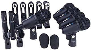 Alctron T8400 Drum Microphone Set - 7-Piece with Clamps and Clips