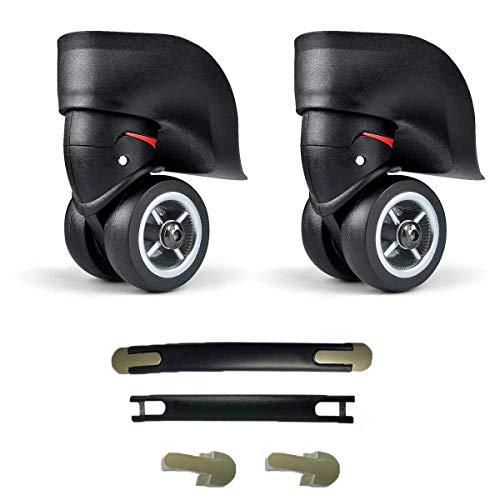 Qiundar Suitcase Wheels Replacement 1 Pair Swivel Castor Wheels Mute Castors Luggage Handle Replacement Grip