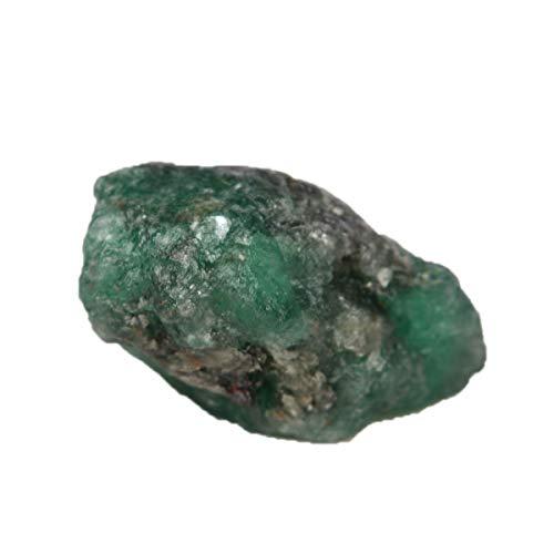 Real Gems Piedras Preciosas de Cristal Crudo en Bruto de fucsita Esmeralda, Natural 16.00 Piedra Preciosa en Bruto de fucsita Verde Esmeralda en Bruto