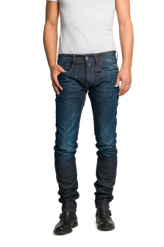 Replay Herren Anbass Hose, Blau (Denim Blue), W29/L32