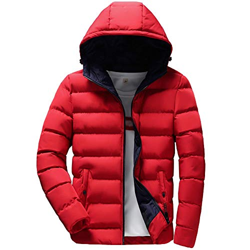 FRAUIT Herren/Jungen Casual Kapuzenjacke Daunenjacke Männer Hoodie Wintermantel Winterjacke Parka Jacke Wärmejacke Wintermantel Coat Wärmemantel Warm Modern Top Outwear Coat Bluse M-3XL
