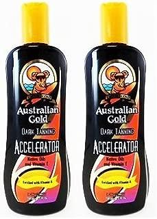 2 bottles of Australian Gold DARK TANNING ACCELERATOR Lotion 8.5 Oz