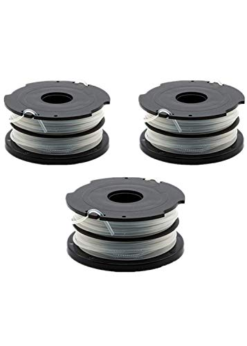 """LBK 0.065"""" Replacement Trimmer Spool Compatible with Black + Decker DF-065, fit Model GH700,GH710,GH750, 3-Pack, Made in USA"""