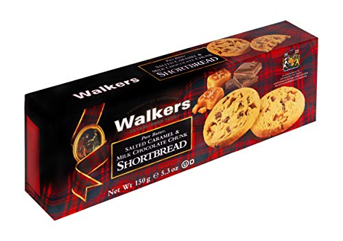 Walkers Salted Caramel & Milk Chocolate Chip Shortbread, 150 g