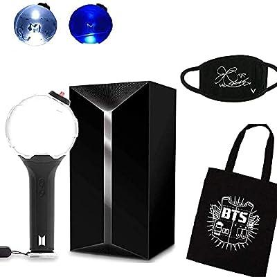 BTS Lightstick Ver.3 Bangtan Boys Concert Light Stick Army Bomb Battery Operated Concert Lamp (BTS Bag + Ver.3 with Bluetooth)