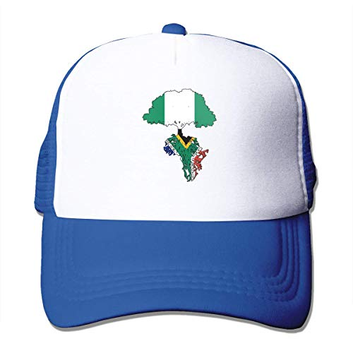 Voxpkrs Nigerian Flag Roots South African Flag Adjustable Mesh Trucker Baseball Cap Men Women Dad Hat Fashionable925