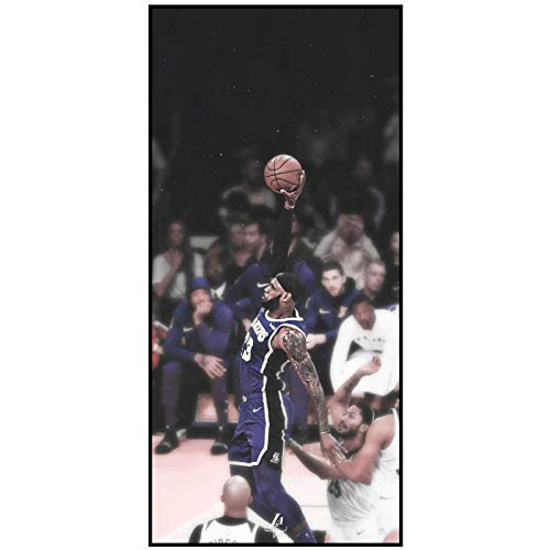 Nba Star Legend LeBron James papel tapiz decoración del hogar sala de estar póster para habitación de niños pegatina 20x40 pulgadas 1 Uds sin marco