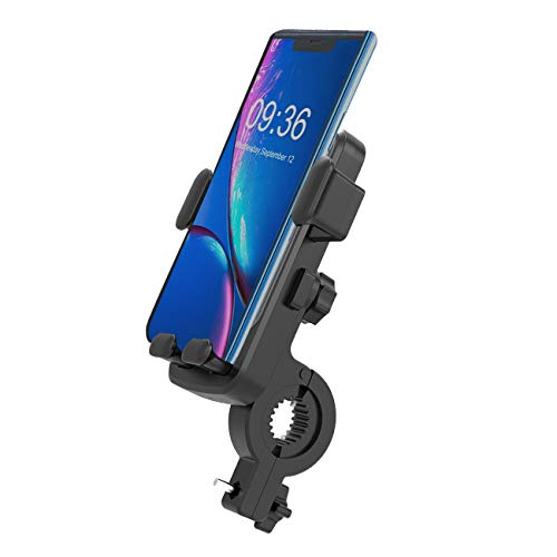 UPFOX Universal Bike Phone Mount 360º Rotatable Bicycle Motorcycle Handlebar Cell Phone Holder, Compatible with iPhone11 Pro Max Xs XR X 6S 7 8 Plus, Galaxy Most Phones in 4.7' to 6.5'