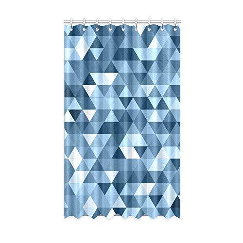 N\A Innenfenster Vorhang Blau Sauberes geometrisches Design Verdunkelungsvorhänge für Baby 50 x 84 Zoll Einteiler für Patio Glasschiebetür/Schlafzimmer