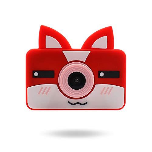 BANGSUN 1 x wiederaufladbare Digitalkamera-Selfie-Kamera, Kinderkamera, 4000 W Pixel, SLR-Digital-Cartoon-Hasen-Silikon-Abdeckung