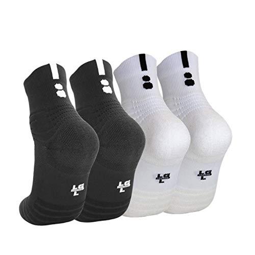 Elite Basketball Socks Athletic Socks Cushion Compression Socks for Men&Women