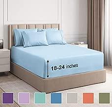 Extra Deep Pocket Sheets - 6 Piece Sheet Set - Cal King Size Sheets Deep Pocket - Extra Deep Bed Sheets - Deep California King Fitted Sheet Set - Super and Ultra Deep Sheets - for Extra Deep Mattress