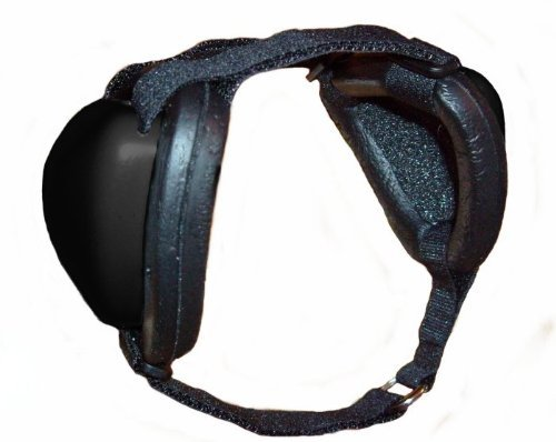 Mutt Muffs Ddr337 Hearing Protection For Dogs, Black, Large by MuttMuffs