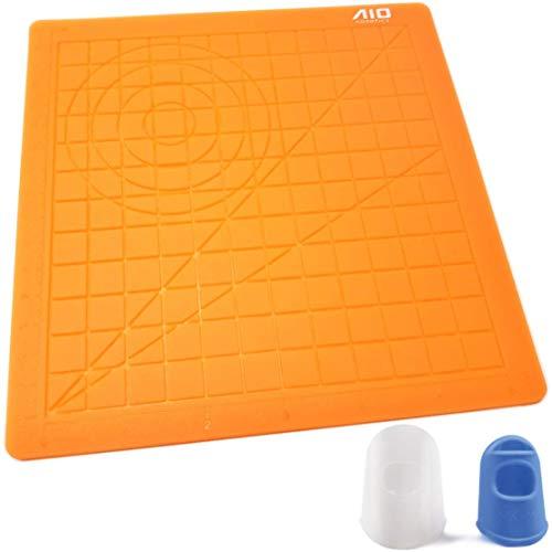 Estera de silicona AIO Robotics para impresión en 3D Dibujo y diseño de la pluma, que incluye dos tapas de silicona para los dedos