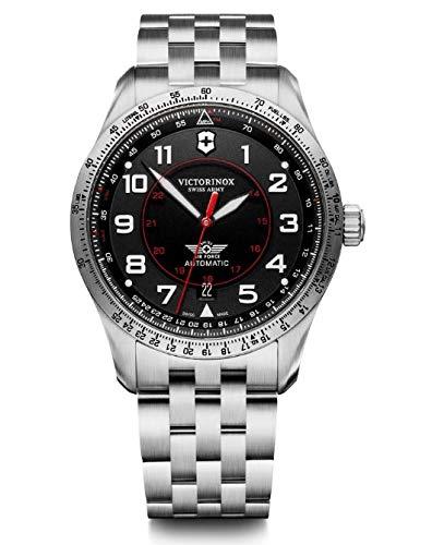 Victorinox Hombre Airboss Mechanical - Reloj de Acero Inoxidable automático Hecho en Suiza 241888