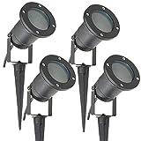 Long Life Lamp Company Lot de 4 Éclairage extérieur à piquer - Spot GU10 IP65 Noir...