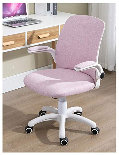 Rolling Swivel Adjustable Mid Back Task Desk Chair with 3D Adjustable Armrest, Durable and Comfortable Plush Velvet Office Chair for Women Adults