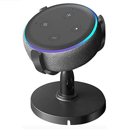 oGoDeal Supporto da Tavolo per Echo Dot 3a Generazione, Rotazione a 360°, Migliora la Visibilità e L'aspetto del Suono, Nero