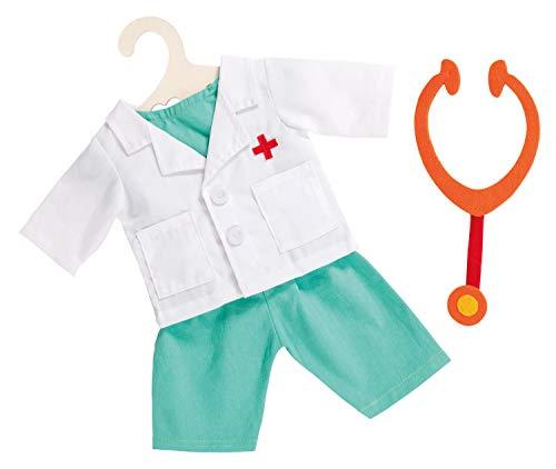 Heless 2653heless Doctor Costume avec statoscope pour poupée