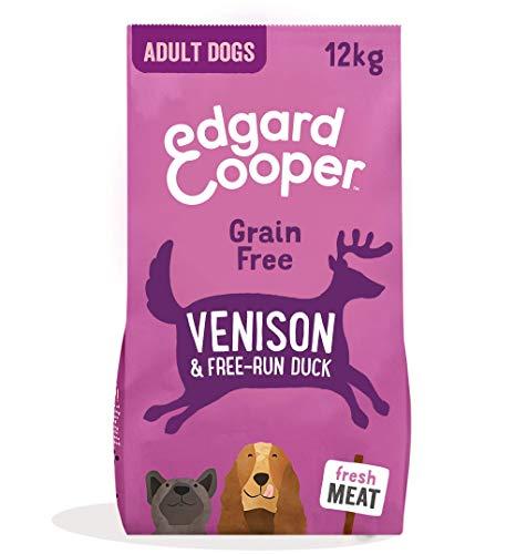 Edgard & Cooper pienso para Perros Adultos sin Cereales, Natural con Venado y Pato Frescos, 12kg. Comida Premium balanceada sin harinas de Carne ni Carnes sobreprocesadas, cocinada a Baja Temperatura