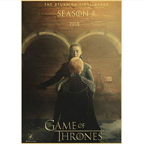 manyaxiaopu Game of Thrones Season 8 Poster TV Play Poster and Prints Wall Art Painting For Home Room Decor Wall Sticker Pintura Sin Marco A4 50X60Cm