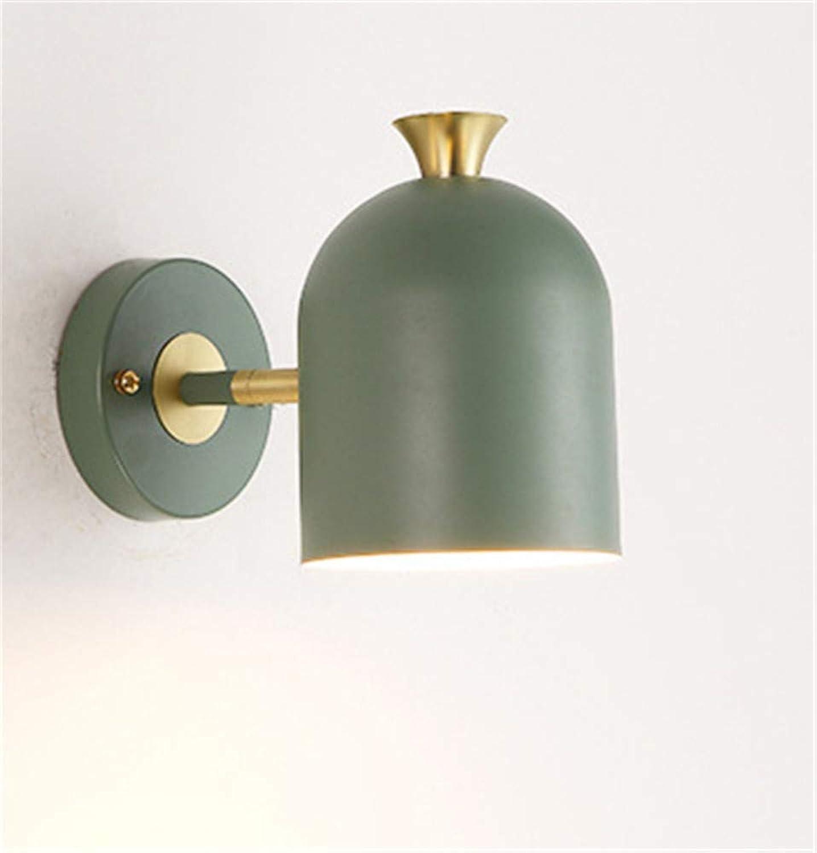 Einzelkopf Schlafzimmer Kunst Wandlampe Nachttisch Schlafzimmer Esszimmer Farbe LED Wandlampe Spiegelscheinwerfer, grün