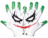 Essential Wear Football Gloves Men & Women - Smiley Jester White Football Gloves - Performance Enhancer Adult Receiver Gloves with Super Tacky Grip for Ultimate Game Experience - Adult Sizes (Small)